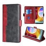 FiiMoo Handyhülle Kompatibel mit LG Velvet, [Weicher TPU] [Kartenfach] [Magnetverschluss] [Aufstellfunktion] Premium PU Leder Tasche Flip Wallet Hülle Schutzhülle Hülle für LG Velvet 5G -Rot