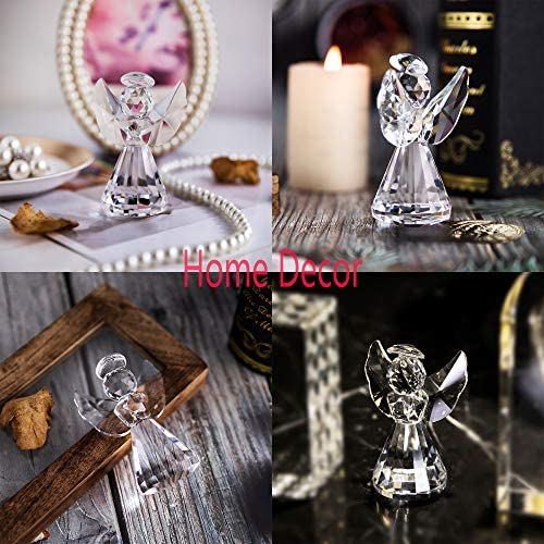 Clear glass angel figurines _image0