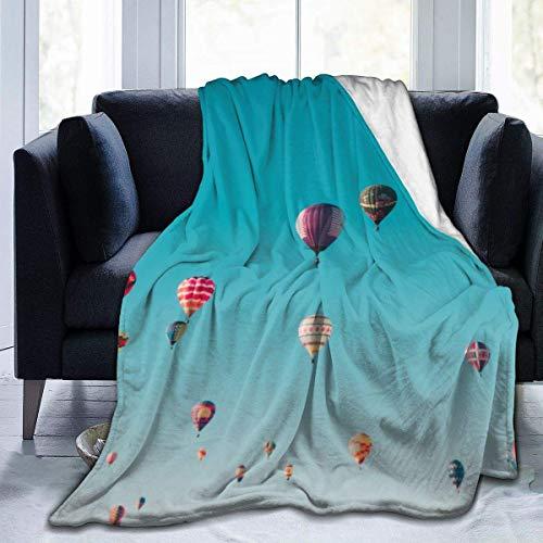 KENDIA Heißluftballon dekorative extra weiche Decke Leichte, zottige Decke aus Mikrofaser, 50 * 40 Zoll