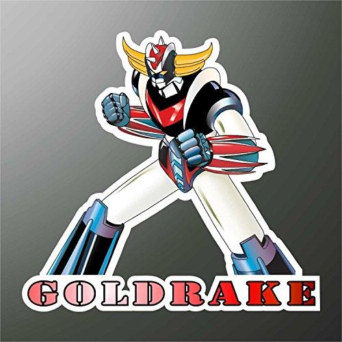 Autocollant Goldorak Goldrake Grendizer Ufo Robot Manga anime bande dessinée Cartoon Dessins animés Sticker