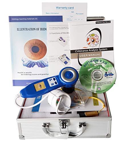 USB Iriscope Iris Analyzer Iridology Camera 5 MP Model 9809U Cadi 30X USB Advance Software