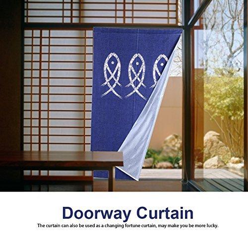 Japanse stijl deuropening gordijnen vis bedrukte kamer deur gordijnen doek maken kamer scheidingswand deuropening zonwering voor woonkamer bed kamer badkamer en keuken decoratie