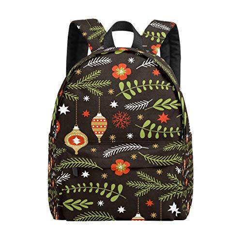 Mochila escolar para niñas y niños con bola colgante de Navidad, bolsa de escuela, ligera, bolsa de viaje, bolsa grande para ordenador portátil, mochila para hombres y mujeres