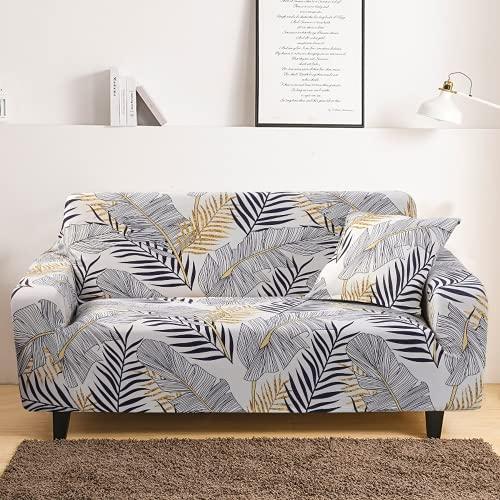 DANNEIL Fundas Sofa Elasticas, Tela De Poliéster con Estampado Floral, Suave Y Cómoda, Lavable A Máquina, para Fundas para Sofa De Dormitorio De Sala (Colour5,4 Seater 230-290cm)