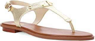 Womens Plate Thong Split Toe Casual Ankle Strap Sandals