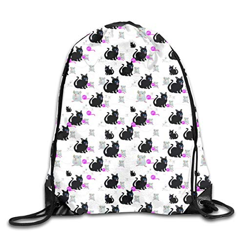 show best Cat and Mouse Games Drawstring Gym Bag for Women and Men Polyester Gym Sack String Backpack for Sport Workout, School, Travel, Books 14.17 X 16.9 inch