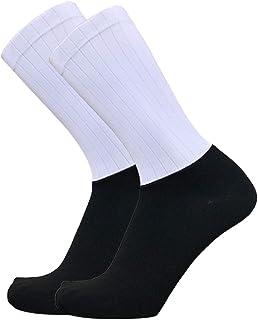 Walmeck-, Calcetines de Ciclismo Profesionales de Verano Calcetines Transpirables Antideslizantes Calcetines Aero