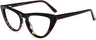 Firmoo Non Prescription Clear Lens Eyeglasses Frame, Hipster Fashion Cat Eye Eyewear Frame for Pescription Glasses