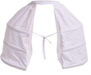 Blessume Victorian Dress Double Pannier Petticoat, White, One size