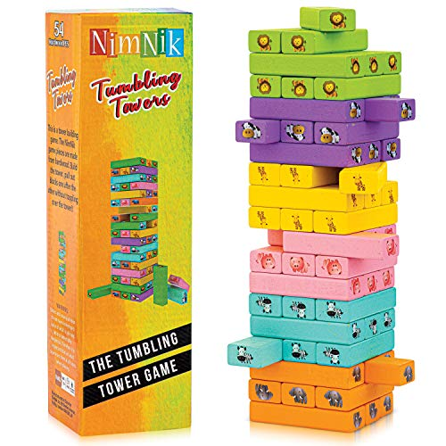 NimNik Classic Best Family Fun Educational Games for Kids - 54 Pcs Gifts Ideas