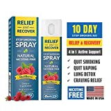 QuitGo Herbal Spray, Instant Craving Relief & Recovery, Calming, Effective, Satisfying Nicotine-Free Stop Smoking Remedy, Helps Prevent The Urge to Smoke All Day (Quit Berry, Single Pack)