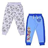 Nickelodeon Boy's Jogger Pants Set, Athletic Sweatpants with Paw Patrol Print, Blue/Grey, Size 5