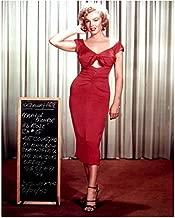 Niagara Marilyn Monroe Red Gathered Dress Costume Screen Test 8 x 10 Photo
