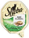 sheba pate classic con selvaggina, alimento completo per gatti, 85g