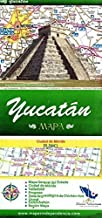 Yucatan, Mexico, State and Major Cities Map (Spanish Edition)