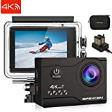 Apexcam 4K 20MP WIFI Caméra Sport Sous-marine 40M Étanche Caméra de Sport Ultra HD...