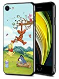 for iPhone SE (2020) iPhone 8 iPhone 7 Case TPU Soft Bumper Hard PC Slim Protective Back Cover 4.7-Inch (Winnie Pooh Tigger Piglet Eeyore Butterfly)