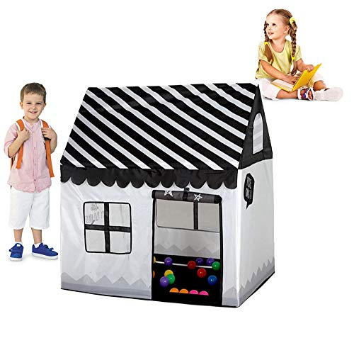 Ydq Kids Play Tent | Baby Ball Pit | Playpen Toy | Den for Indoor Outdoor Garden for Children Camping Picnic Travel (Black White)