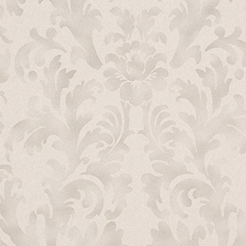Star Fade Grey Vinyl Damask Wallpaper For Walls - Double Roll - By Romosa Wallcoverings