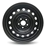 Road Ready Car Wheel For 2009-2020 Toyota Corolla 15 Inch 5 Lug Black Steel Rim Fits R15 Tire - Exact OEM Replacement - Full-Size Spare