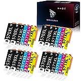 Wolfgray 570 571 Cartuchos de tinta compatibles para Canon PGI-570 XL CLI-571 XL Pixma MG6851 MG5750 MG5753 MG6852 MG6853 MG5752 MG6800 MG5751 MG6850 MG5700 TSC 6051 TS5051 TS5053 TS5050 TS6052