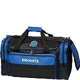 Ebonite Conquest Double Tote Bowling Bag, Black/Royal