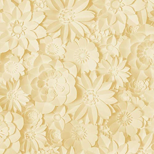 3D Effect Floral Wallpaper Flowers Yellow Mustard Washable Fine Decor Dimensions from Y�L