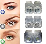3 Pair Monthly Color contact lens, 1 Lens Case, 1 Lens solution 55% water, 35% phemfilcon A 2 soft Lenses In a strile buffered saline solution Suitable for both Male and Female Store it in a proper case, always use fresh solution and do not wear it o...