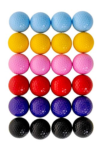Find Bargain Thorza Colored Golf Balls - Multicolored Set of 24 for Kids Mini Golf, Putting Practice...
