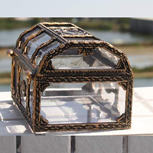 Schatkist, Plastic Transparant Piraat Schatkist Schatkist Kristal Juweel Juwelendoos Opslag Organisator Geschenken voor Kinderen