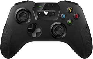TNP Wireless Gamepad Controller - Supports XInput DirectInput DInput Mode, Shock Vibration Feedback for PC Windows, Android, Tablet, Steam OS, OTG USB Wired Adapter Cable Cord