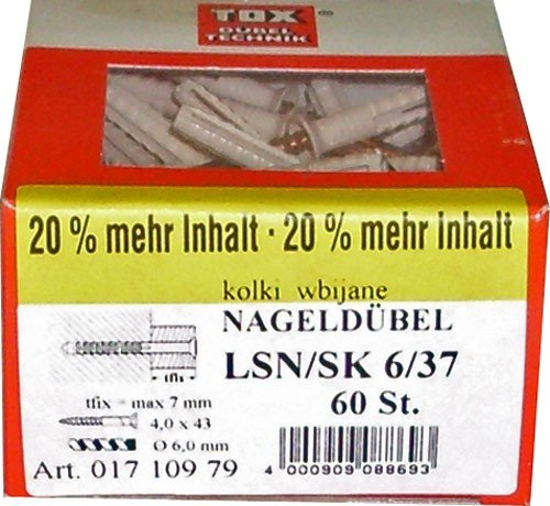 Preisvergleich Produktbild TOX Dübel LSN-SK 6x37-60 St. - 01710979