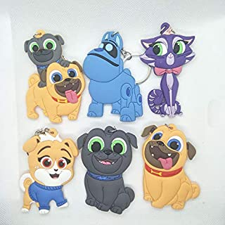iMagitek 6 Pack Puppy Dog Pals Toys Keychains for Kids Gift, Kids Party Bag Favors, Kids Stocking Fillers