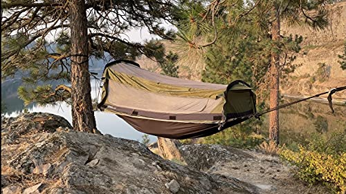 Crua Outdoors Hybrid Premium Quality Set 1 Person Tent or Hammock with self-Inflating Mattress & Sleeping Bag - Hiking, Backpacking, Camping, Fishing, Hunting and Great for Motorcycles Trips