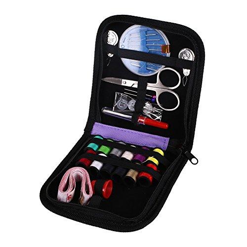 KAIYAN Kit de costura con estuche mini kit de costura para el hogar, viajes y emergencias, relleno con agujas de corrección y costura, tijeras, dedal, hilo, cinta métrica, etc.