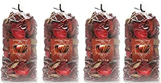 Hosley Apple Cinnamon Potpourri- 16 Oz. Bonus Buy 4 Bags / 4 Oz Each. Ideal for dried floral arrangements or with Orbs, Potpourri or Just As Decor