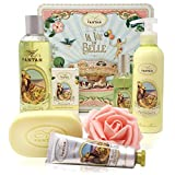 Un Air d'Antan - PROVENCE - Set de Productos de Belleza, 5 Productos: 1 Gel de Ducha 250ml, 1 Crema de Manos 25ml, 1 Jabón 100g, 1 Loción Corporal 200ml, 1 Eau de Toilette 55ml - Perfume Verbena
