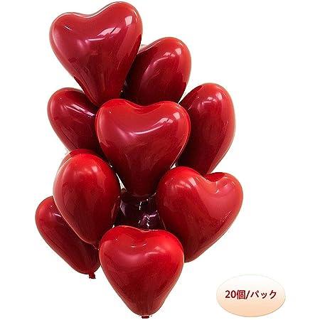 10インチ ハートラテックス 風船 ルビーレッドバルーン バレンタインデー 結婚式パーティーの装飾 20個/パック