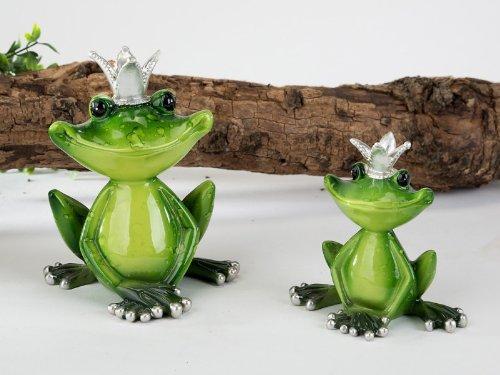 Dekofrosch Froschkoenig mit Krone