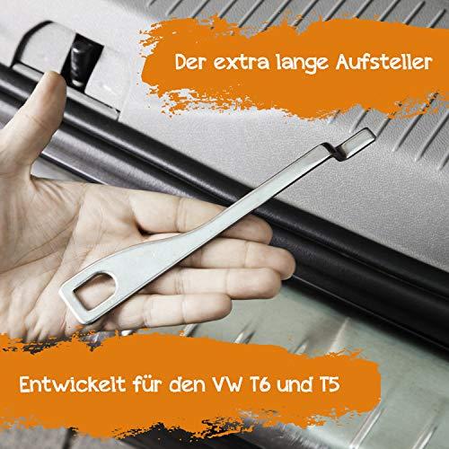 Extra langer Frischluft Heckklappen Aufsteller für VW T6, T5, T4 California Beach, Golf und viele mehr.