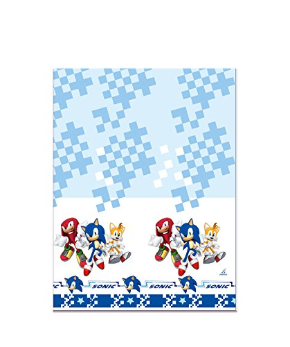Verbetena, 016001409, Sonic party tablecloth, sonic plastic tablecloth 120x180