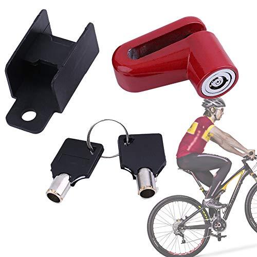Vélo Frein À Disque Antivol Vélo Roue De Frein À Disque Rotor Lock pour Vélo Vélo Scooter Rouge