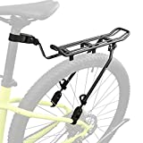 Ibera Bicycle Touring Clamp-On Bike Carrier Rack Quick Release Height Adjustable for 26'-29' Frames