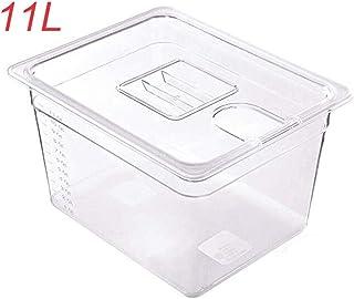 Rouku Sous Vide Container Máquina para filetes Contenedor con Tapa Tanque de Agua Baño para circulador Sous Vide Inmersión culinaria Olla de cocción Lenta