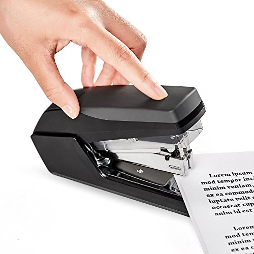 Volcanics Desk Stapler Heavy Duty Small Office Stapler Hand Stapler Set with Staples Black