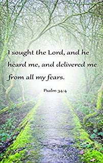 Flag Emotes Double Sided Garden Flag Bible Verse Psalm 34:4 I Sought The Lord