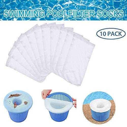 KINRIKA Skimmer Filter,Skimmer Korb Filter,Schwimmbad Skimmer,Pool Skimmer socken,körbe und Skimmer,Skimmer Korb für Schwimmbad,Schwimmbad Filter (10)