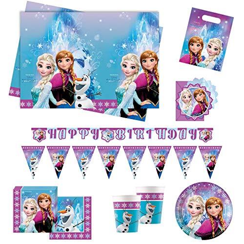 Procos Conjunto para Fiesta 10110970B, de Disney, diseño de Frozen Northern Lights,...