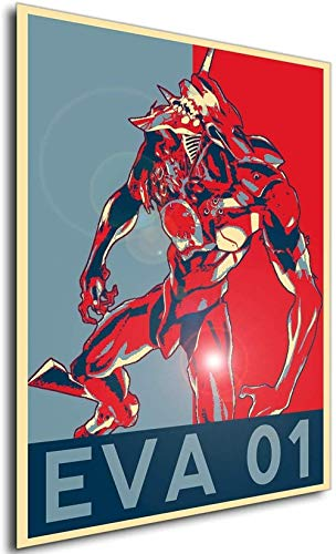 YEAHTOPE Poster mural Evangelion Propaganda Eva 01 Berserk Taille A3 (30 cm x 42 cm) Sans cadre Cadeau idéal