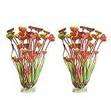 unkonw 2 piezas de grandes plantas acuáticas decoración de plástico artificial plantas de agua ornamentos de 15.7 pulgadas de pecera decoraciones